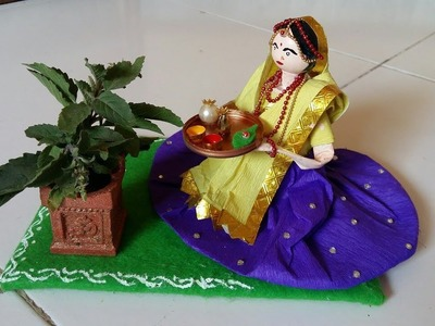 144 Tulasi Puja Doll Making | तुलसी विवाह डेकोरेशन Idea | DIY Craft Idea | Best Out Of Waste