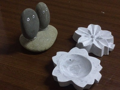 2 Ideas Flower Cement Pots From Plastic And Shaping Stones || Stone Craft Ideas