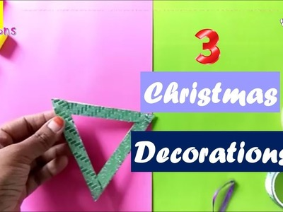3 DIY CHRISTMAS DECORATIONS | Easy craft ideas for christmas | Best out of waste ideas |budget decor