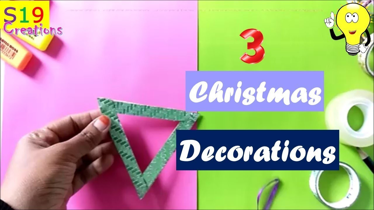 3 DIY CHRISTMAS DECORATIONS   Easy craft ideas for christmas   Best out of waste ideas  budget decor