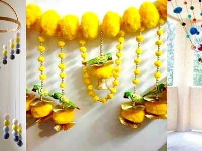 5 DIY Awesome Craft Ideas From Woolen Pom Pom | Woolen Craft for Home Decoration