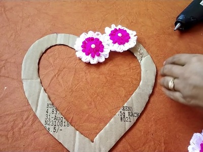 All in one craft ll Woolen Hart Wall Hanging Craft idea