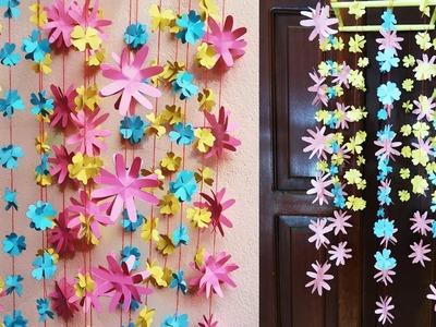 Amazing Hanging Flower   DIY Simple Home Decor   Paper Craft Ideas