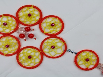 Amazing Woolen Craft Idea || How to Make Door Hanging Toran Using Bangles & Woolen - arts and crafts