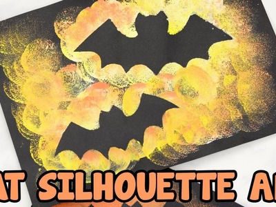 Bat Silhouette Halloween Art and Craft for Kids