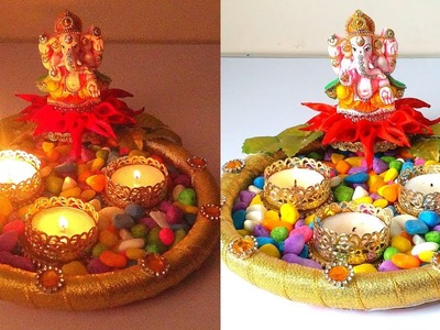 *BEAUTIFUL* Diwali diya stand making decoration ideas | Special DIY craft for making at home!