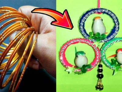 Best Out Of Waste Old Bangles & Wool Craft Idea | DIY Best Out Of Waste Idea | DIY Cool Craft