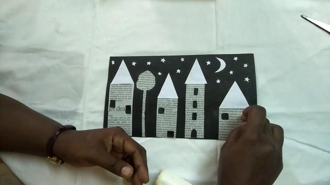 Black & White Wall Decoration Craft || Kids Craft Ideas ||DIY crafts || Caveman Studios