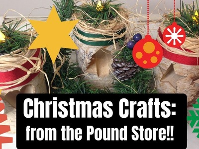 CHRISTMAS CRAFT TIME!!!  And all from the Pound Store x