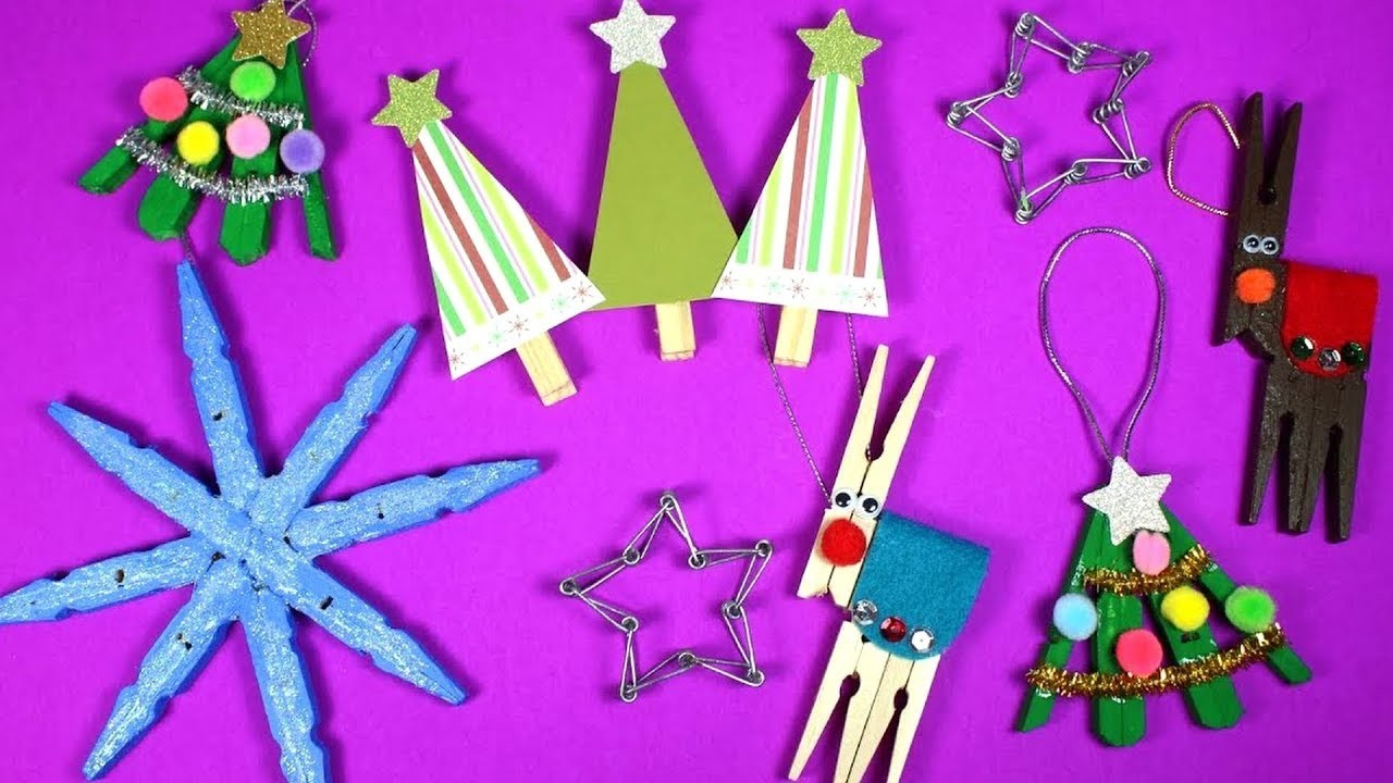 Clothespin Christmas Craft Ideas | Christmas Crafts for Kids