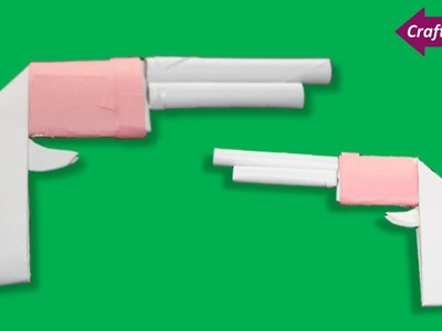 Craft Care how to make a pocket mini gun with paper for kids * kids paper pocket mini gun for fun