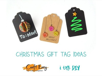 Craft Easy x I Try DIY   |   Christmas Gift Tag Ideas