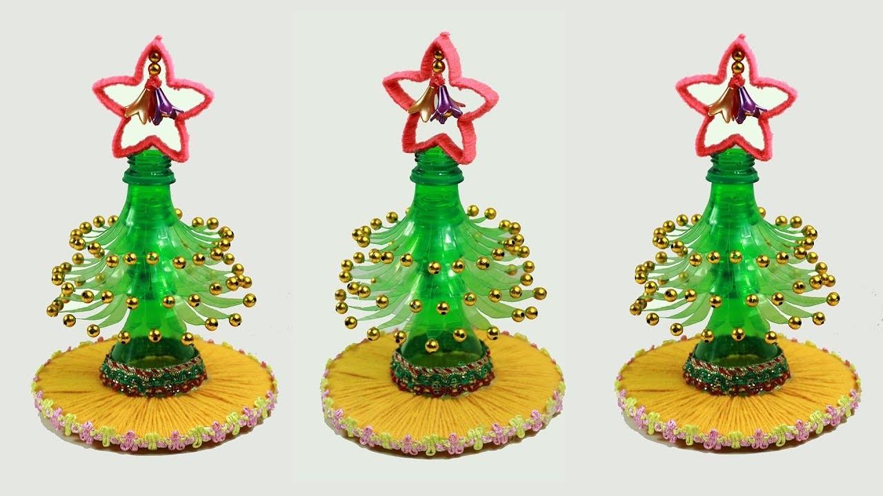 Creative ways to reuse plastic bottles. Plastic bottle craft idea. Christmas craft ideas