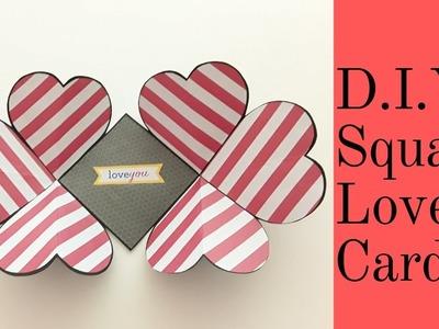 D.I.Y. Squash Love Card. Valentine's Day Craft Idea.Easy Card Making