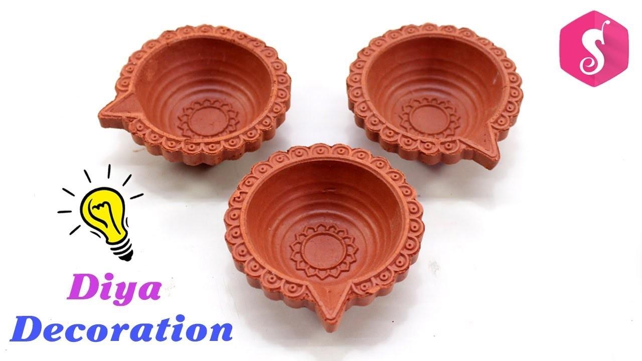 Diwali Diya Decoration with Best easy ways | Diwali Craft Idea By Sonali's Creations