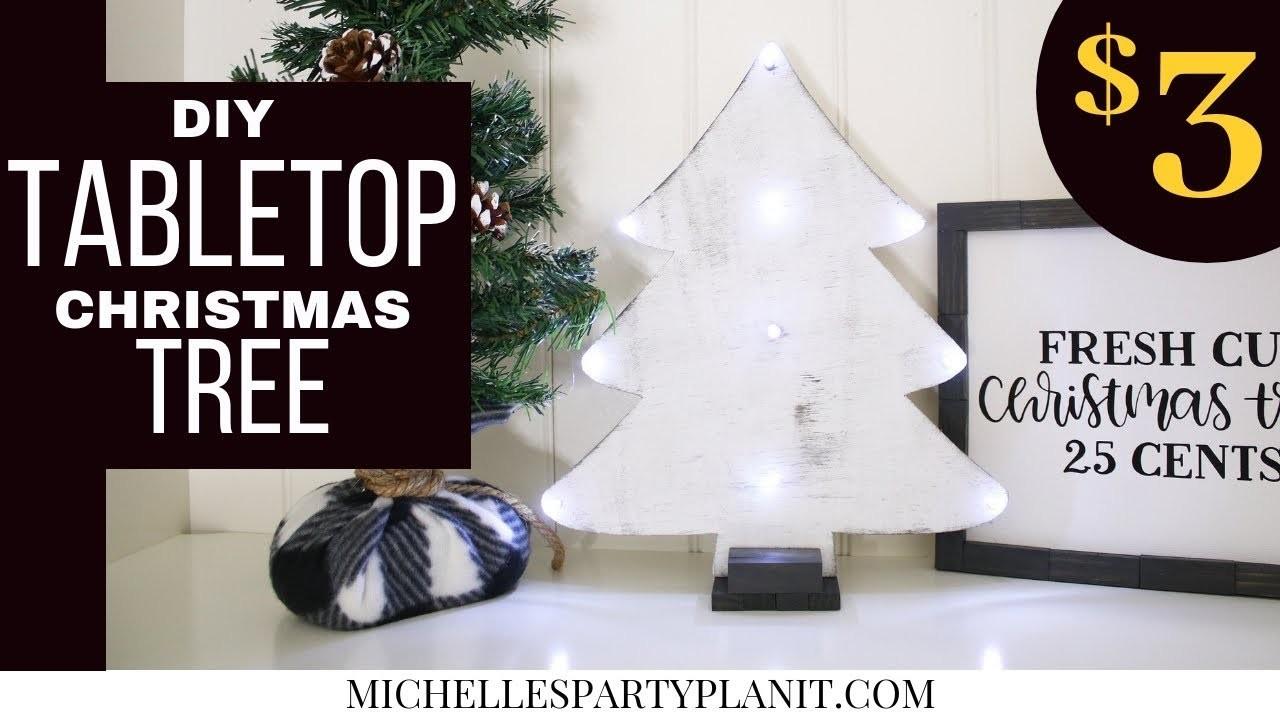 DIY $3 Tabletop Christmas Tree - Dollar Tree DIY - Craft with Me!