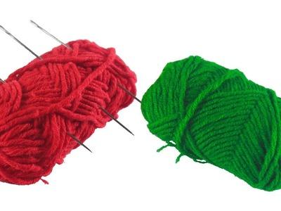 DIY-Art-and-Craft-Out-Of-woolen-Threads | Wool-Door-Toran