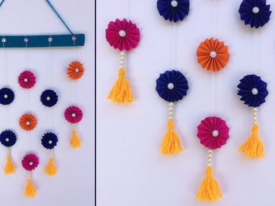 DIY Best out of Waste Bangles and Wool Craft Idea. Wall hanging. Paper craft ideas