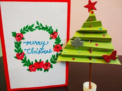 DIY Christmas Tree Craft ideas || Table top Christmas Tree || Crafts for Kids