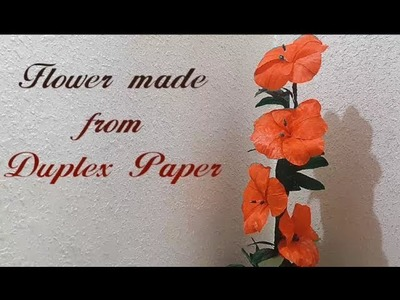 DIY Crafts: Flowers Made from Duplex Paper | #DIY | #Craft | #Flower