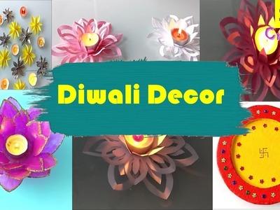 Diy Diwali Decor ideas | paper craft ideas for diwali | easy diya holders | pooja thali |