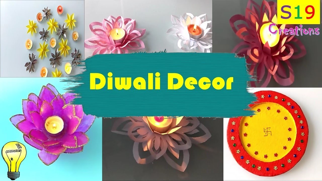 Diy Diwali Decor Ideas Paper Craft Ideas For Diwali Easy Diya