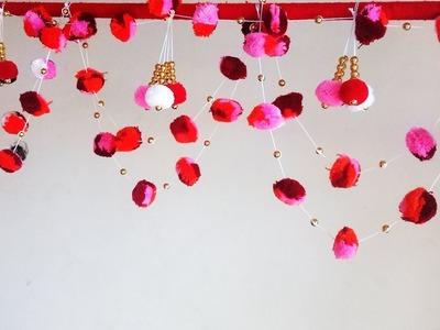 DIY Door Hanging Toran | How to make Pom Pom Hanging | Woolen Craft Hanging Idea