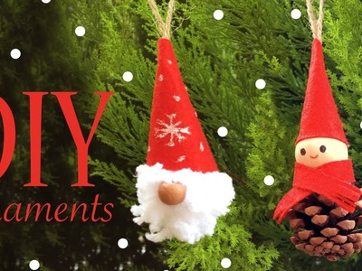DIY Easy Elf & Gnome Christmas Ornaments - Craft Project For Kids and Adults -Nunismas Day 3