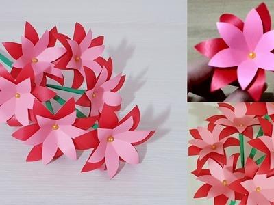 DIY Easy Paper Flowers - Handmade Craft Ideas - Room Decoration