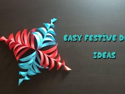 DIY Festive Decor Ideas | Paper Craft | Easy Decorations | StoryAtoZ.com(Hindi)