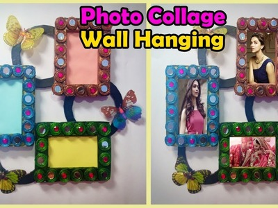 DIY-Handmade photo frame wall hanging. Best out of waste craft. wall hanging idea. Wall decor
