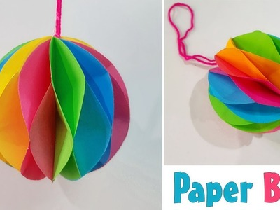 DIY - Hanging Paper Ball - Paper craft ||  Step by Step Guide