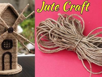 DIY Jute Craft Idea   Jute Showpiece   Reuse of Waste Cardboard and jute Craft Idea   Handmade craft