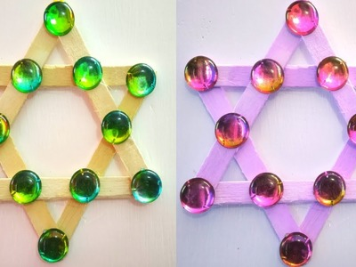 DIY NEW WALL HANGING CRAFT IDEAS.BESTE OUT OF WASTE ICE CREAM STICKS.WALL HANGING NEW DESIGN