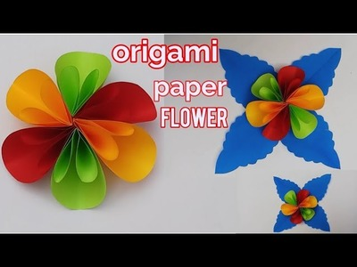 DIY ORIGAMI PAPER FLOWER CRAFT TUTORIAL,Christmas decoration ideas,paper flowers design at home