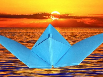 DIY Paper Craft Idea Easy - How To Make A Flying Paper Boat - Origami Boat
