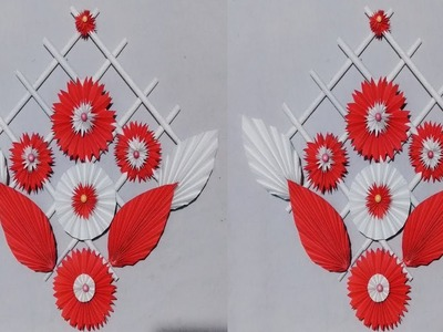 DIY : paper craft.wall hanging ideas.Diwali decoration.Flower hanging. art and craft.Art Gallery