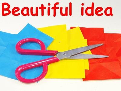 DIY paper crafts   Best craft idea   Cool idea with color paper   DIY arts and craft