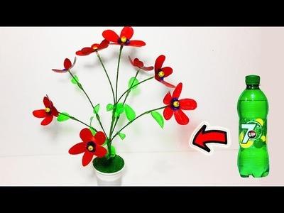 DIY Plastic bottle flower tree making Best out of waste ideas craft water bottle recycle flower tree