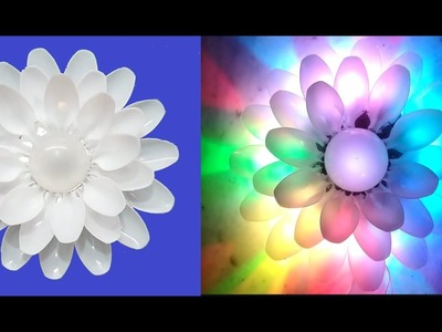 Diy Diy Plastic Spoon Craft Idea Lotus Flower Best Out Of Waste