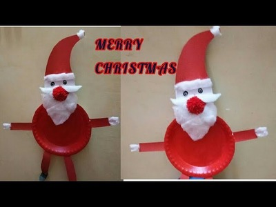 DIY SANTA.CHRISTMAS DECORATIONS.BEST REUSE CRAFT IDEAS FOR KIDS ON THIS CHRISTMAS EVE