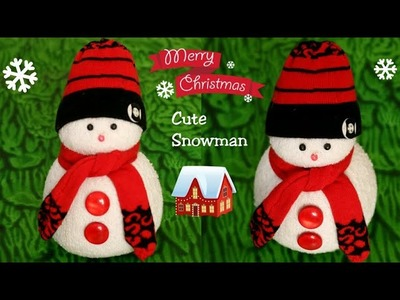 DIY Snowman|Making Socks Snowman|Christmas Craft idea for Kids|Christmas & New Year Decor ideas