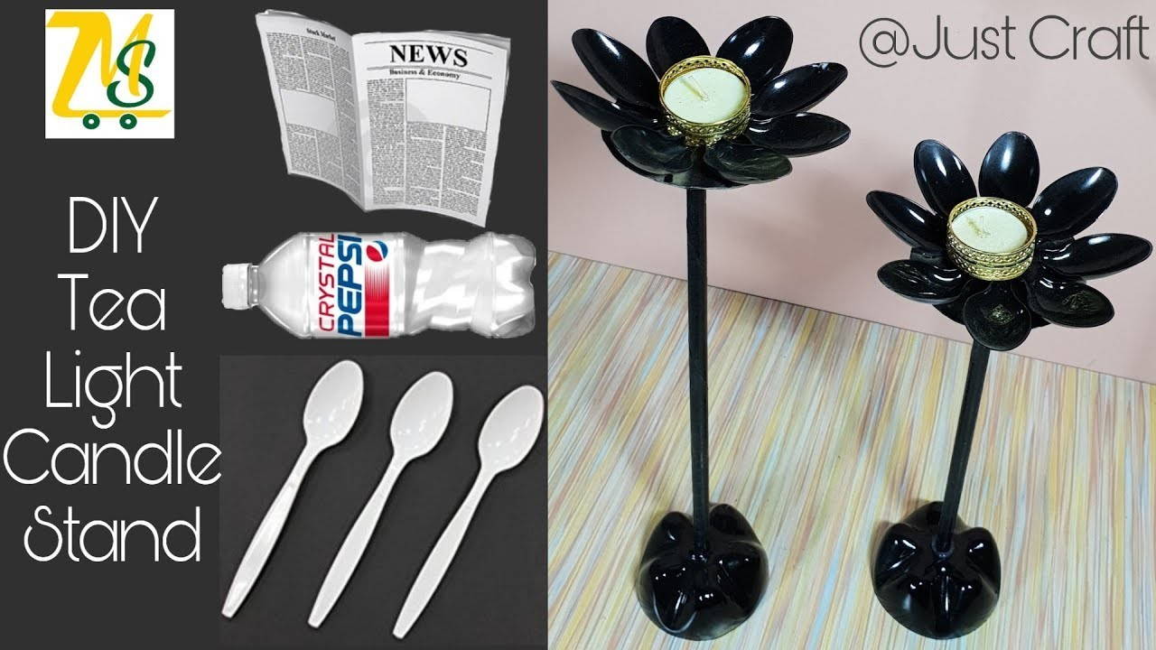 DIY Tea Light Candle Stand | Diwali Craft Ideas | How to make diya stand | Just Craft | msjustcraft