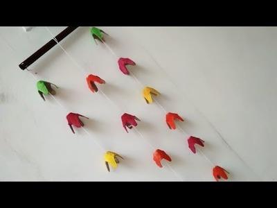 DIY Wall Decor ideas.Egg Tray wall hanging craft ideas.