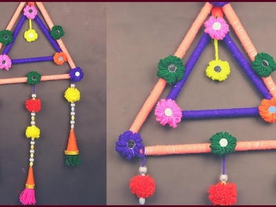 DIY Wall Hanging Craft Best Out of Waste Wool. DIY Wall Hanging Craft Ideas for Home Decor