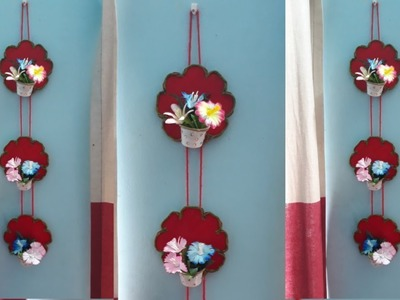 DIY Wall Hanging using Disposable Glass.  Wall hanging craft ideas.