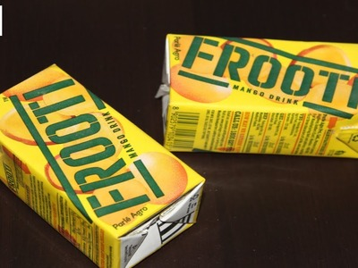 DIY waste frooti packet reuse idea * frooti wrapper craft * best out of waste* craft care