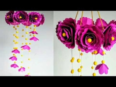 Simple News Paper Hanging Wall Craft Making Simple Craft Diy News