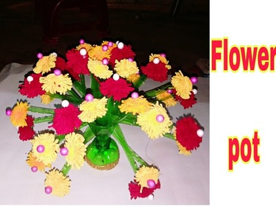 Plastic Waste Material Craft Ideas How To Make A Flower Vase At