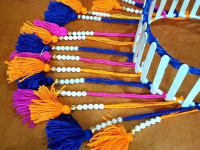 DIY Woolen Jhumar. Woolen Craft Idea. Beautiful Wall Hanging.DLY - Woolen Wall Craft At Home